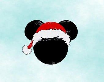 Mickey Santa Svg, Mickey Christmas SVG, Disney Christmas SVG, Mickey Santa Hat Svg, Mouse Svg, Files for Cricut, Disney Dxf