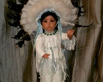Native American  porcelain doll.