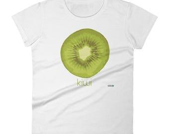 Kiwi T-Shirt - Womens - Foodie - Chef - Organic