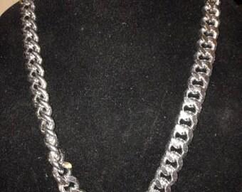 Vintage Heavy Herringbone Necklace