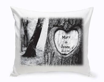 Personalized Tree of Love Throw Pillow - Personalized Gifts - Throw Pillows - Anniversary Throw Pillow -Wedding Gifts - Anniversary Gifts