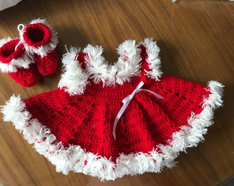Adorable baby dress and booties