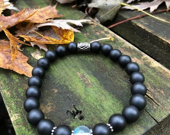Black Jade Beaded Bracelet