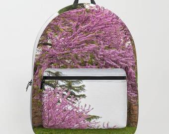 Pink Tree backpack, colorful backpack, flower backpack, nature backpack