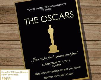 Oscar Party Invitation, Academy Awards, Academy Awards Party, Oscars