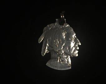 Buffalo  Nickel Indian Head Pendant
