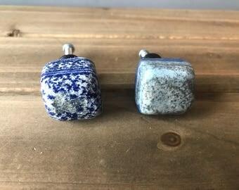 Lapis drawer/cabinet knobs (pair), rock knob, drawer knob *FREE SHIPPING*
