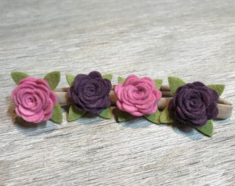 Felt flower headband - nylon headband