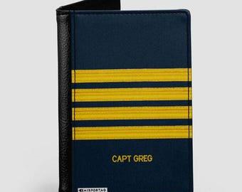 Pilot Stripes - Passport Cover