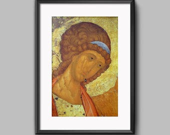 Russian icon Angel Michael INSTANT DOWNLOAD Byzantine Icon Orthodox icon Christian gifts Religious art Christian home decor Orthodox decor