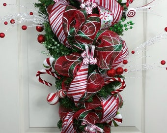 Christmas Swag, Christmas Wreath, Holiday Swag, Front Door Swag, Front Door Decor, Holiday Swag, Holiday Door Decor, Holiday Wreath