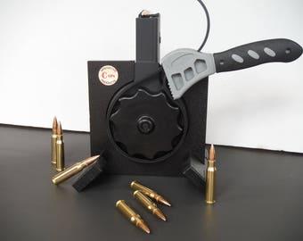 Speed Loader-308-Reloader-AR 15-Display Stand-Gun Decor-Gun Accessory-Drum Magazine Loader-AR 15 Accessory-AR 15 Loader-Gun Enthusiast-Rifle