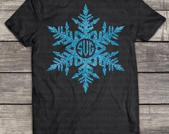 Snowflake svg, Snowflake monogram svg, Snow svg, Snow monogram svg, Winter svg, Christmas svg, SVG, DXF, EPS, Snow svg, silhouette, cricut