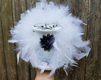 Mini top hat, wedding, prom, Mini top hat with lights, steampunk, festival, mardi gras
