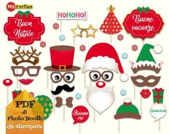 Christmas Photo Booth Props - Printable - Merry Christmas -
