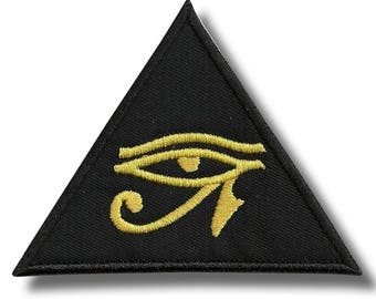 Horus eye - embroidered patch, 10x8 cm