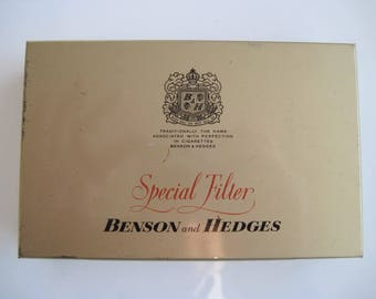 Benson & Hegdes Special Filter tin (50) by Gallahers 1965/70