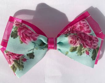 Doubled stacked organza hair bow