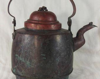 Antique Swedish Made Copper Tea Kettle
