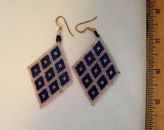 Beaded Native American Design Earrings
