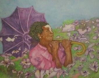 Art print~ Color me Purple