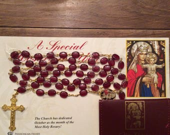 Blessed Our Lady of the Atonement Prayer Rosary and Pouch