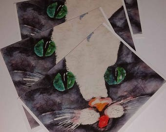 Cards Invite Kitty 4 notecards Cat Tastic Collection