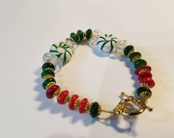 Christmas Bracelet with Candy Charms