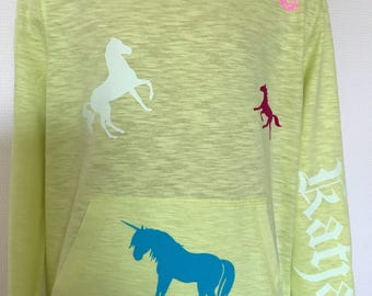 Personalized Hoodie with horses