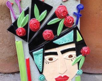 """Ceramic Tile Art - """"...start living the life she imagined"""""""