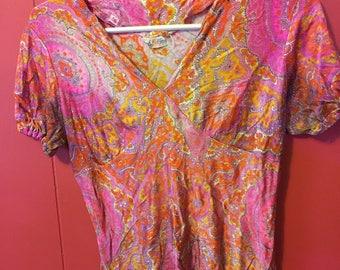 Vintage 1960's A. Kallins NY hippie shirt.