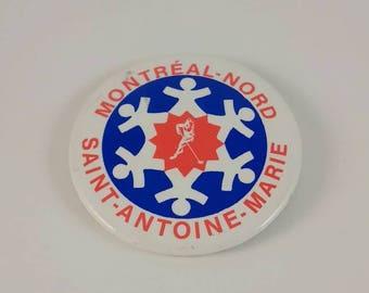Vintage Montréal-Nord back-pin
