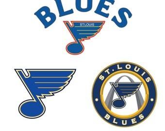 St. Louis blues svg, st louis blues dxf, blues svg files, blues cricut file, hockey  svg, st louis svg files, hockey team svg cut