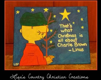 What Christmas Is All About- Charlie Brown Canvas