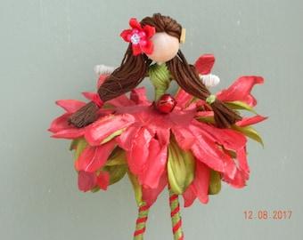 Christmas Elf Flower Fairy Doll