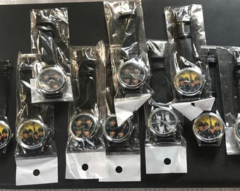 The Beatles Set of 10 Leather Watches