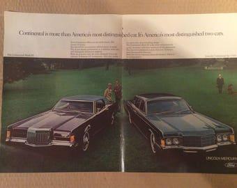 Original vintage auto ad
