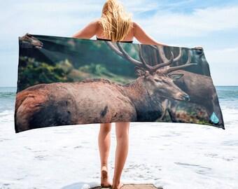 Elk Hunting PhotoBeachTowel™