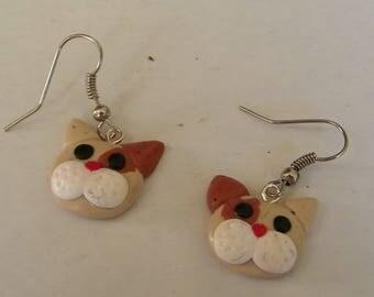 Dangle earrings - cat