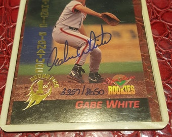 Rookie card #47 1994 Gabe White  signed.COMBINED SHIPPING