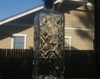 Vintage Glass Collectible Whiskey Decanter bottle