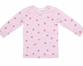 Bamboo Long Sleeve top- Pink floral