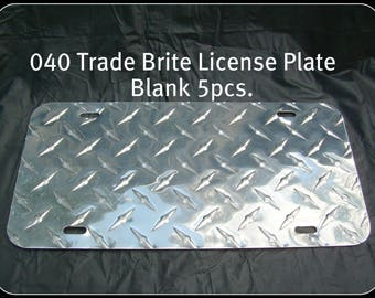 "25 pcs..040 6""x12"" Trade Brite Aluminum License Plate/Car Tag Blanks, PVC masked"
