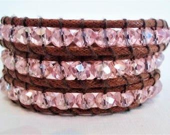 Wrap Bracelet The Sparkling Pink