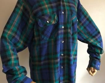 Vintage mens, five brother,  Flannel, Size extra large, five brother flannel, XL