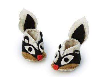 Skunk Zootie, Booties For Babies