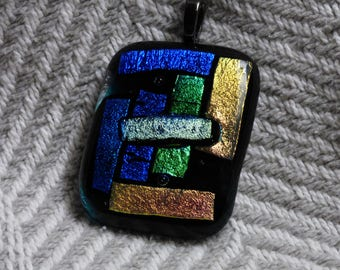 Dichroic necklace, Dichroic pendant, Fused glass necklace, Fused glass pendant, Dichroic jewelry, Dichroic Glass, Pendant, Necklace