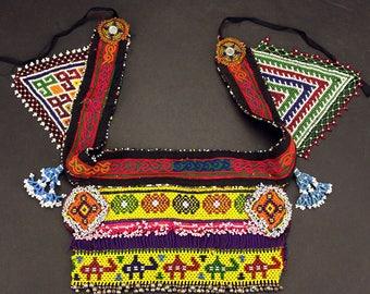 Afghan Tribal Bellydance Dangles BELT Turkoman 868g7