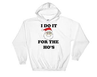 Father Xmas, Santa Themed Hooded Sweatshirt, Perfect Christmas Gift