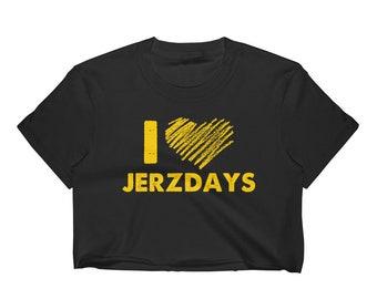 I LOVE JERZDAYS Jersey Shore Women's Crop Top